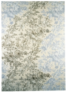 Louise Hopkins, 1996, 2/3 [oil paint on reverse of furnishing fabric 183 x 130 cm]