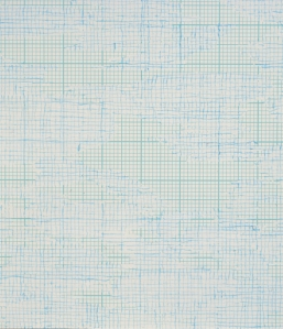 Louise Hopkins, 2003, Untitled (476) (detail)[Acrylic ink on metric graph paper]