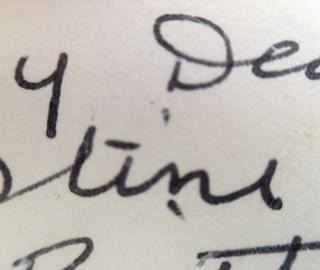 Nana's writing